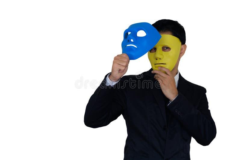 Máscara de los cambios del hombre imágenes de archivo libres de regalías
