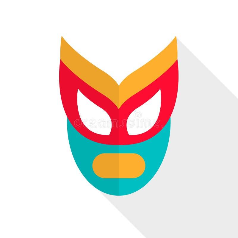 Máscara de lucha abstracta stock de ilustración