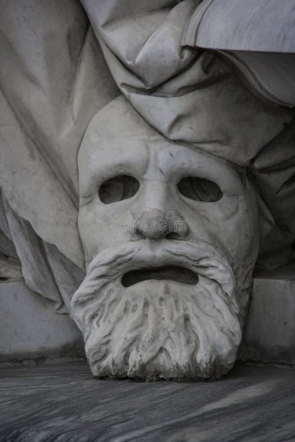 Máscara de mármol masculina en Berlín fotografía de archivo