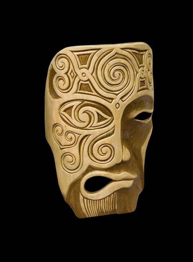 Máscara de madeira imagem de stock royalty free
