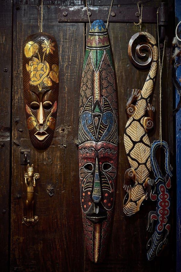 Máscara de madeira do vudu fotografia de stock royalty free