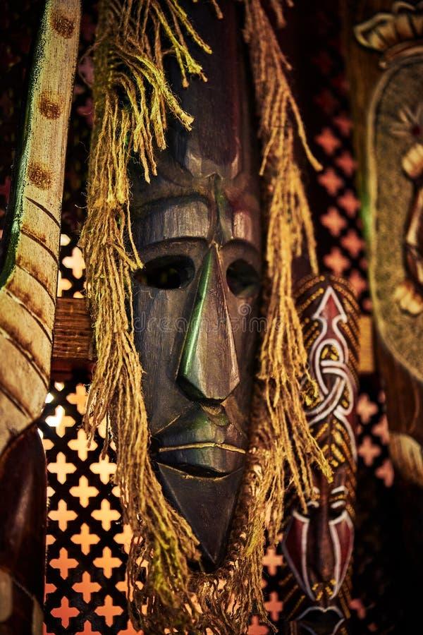 Máscara de madeira do vudu foto de stock royalty free
