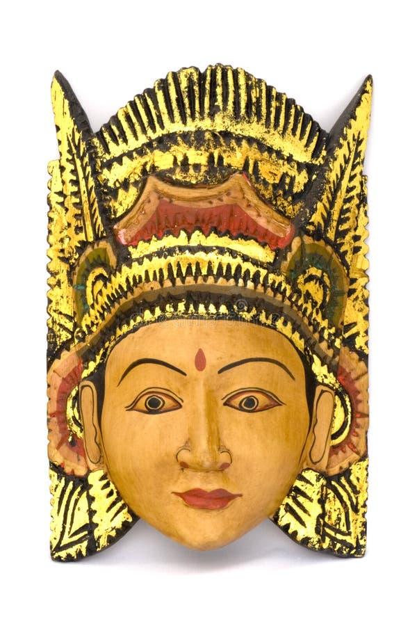 Máscara de madeira indonésia imagens de stock royalty free