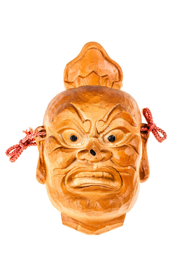 Máscara de madeira japonesa imagens de stock
