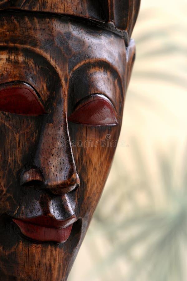 Máscara de madera imagen de archivo libre de regalías