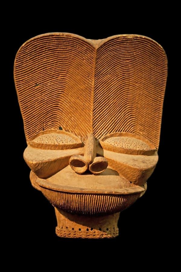 Máscara de madera africana fotos de archivo