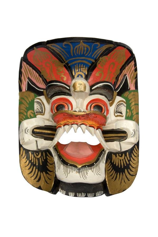 Máscara de madera del Dayak fotografía de archivo libre de regalías