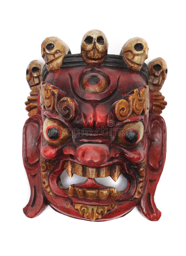 Máscara de Nepal imagens de stock