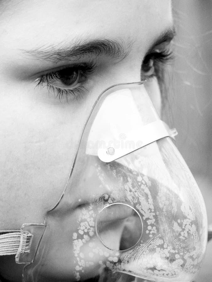 Máscara de oxigénio imagens de stock royalty free