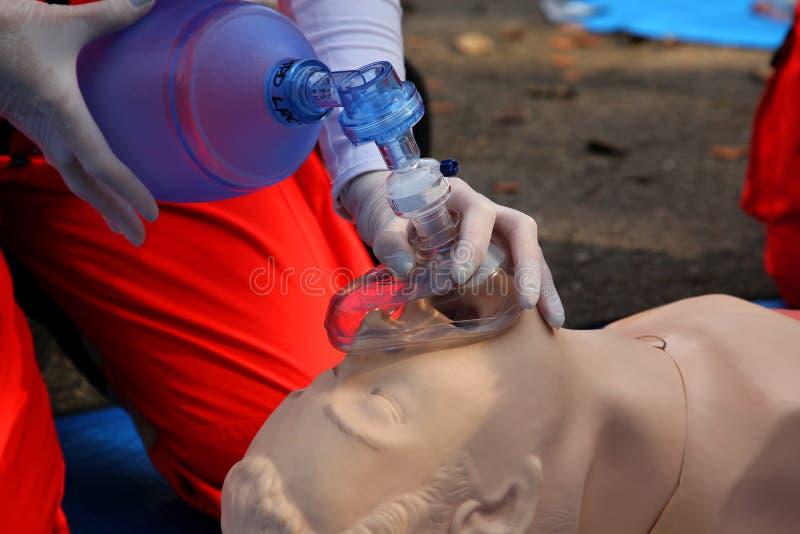 Máscara de oxigênio fotografia de stock royalty free