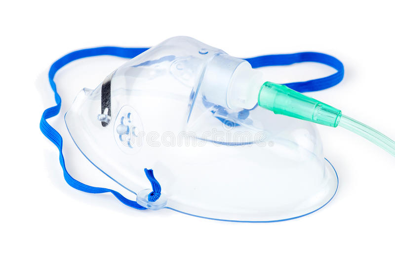 Máscara de oxigênio do hospital foto de stock