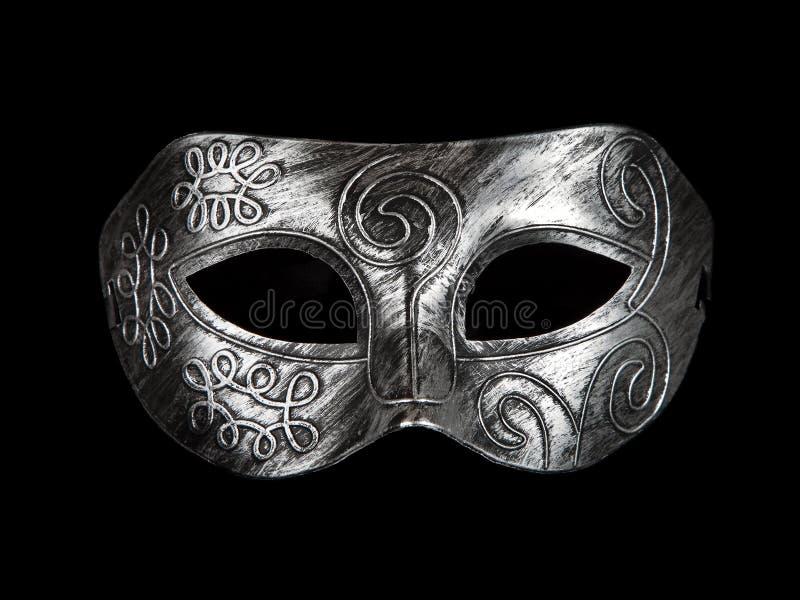 Máscara de plata festiva de la alineada del vintage foto de archivo libre de regalías