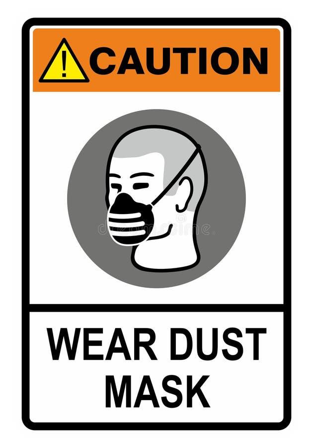 Máscara de polvo ilustración del vector