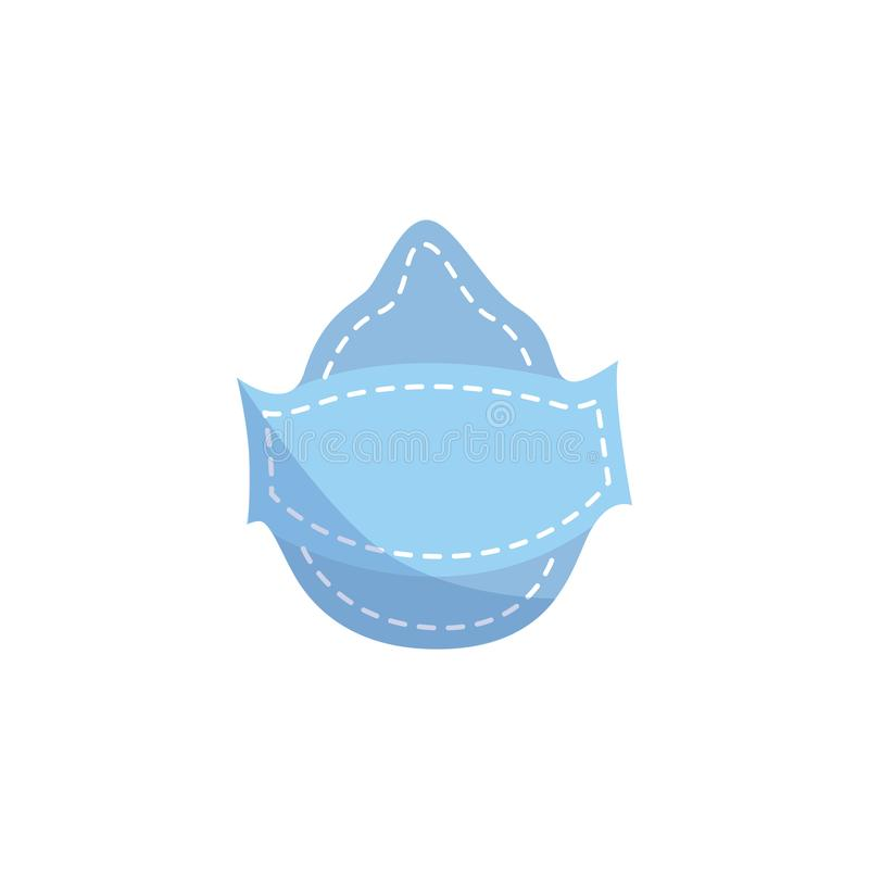 Máscara de polvo protectora industrial en estilo plano o de la historieta ilustración del vector