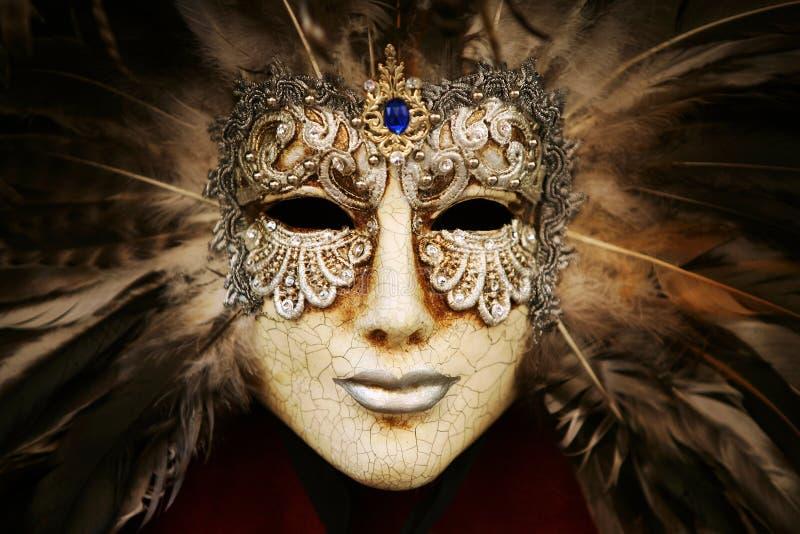 Máscara de prata luxuoso fotos de stock royalty free