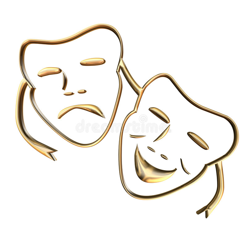 Máscara de Teather ilustração royalty free