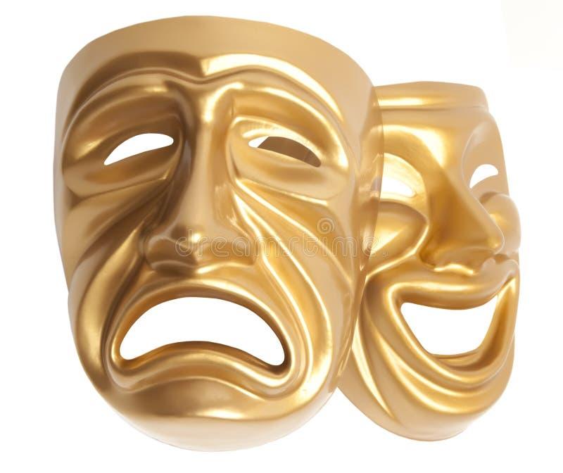 Máscara de teatro aislada foto de archivo
