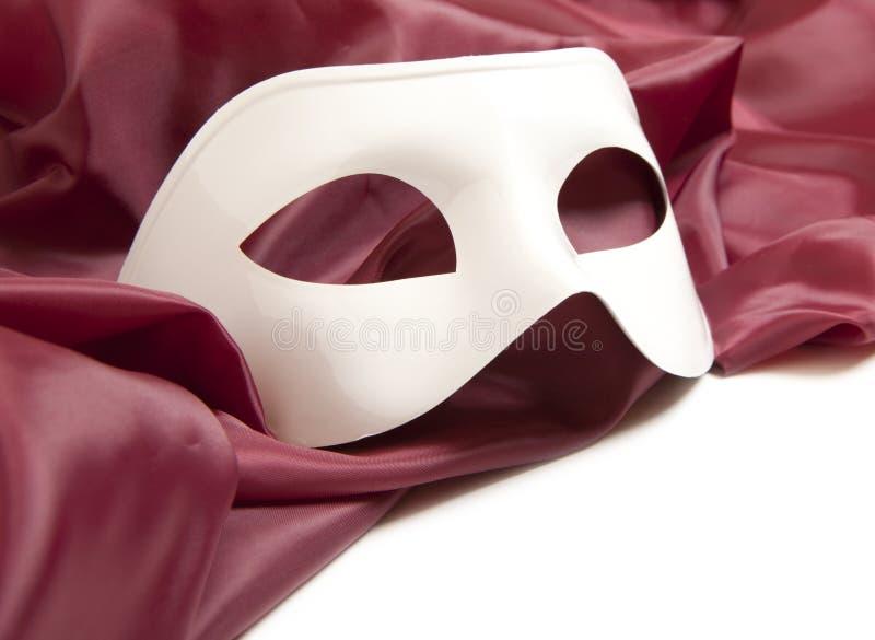 Máscara de teatro blanca fotos de archivo