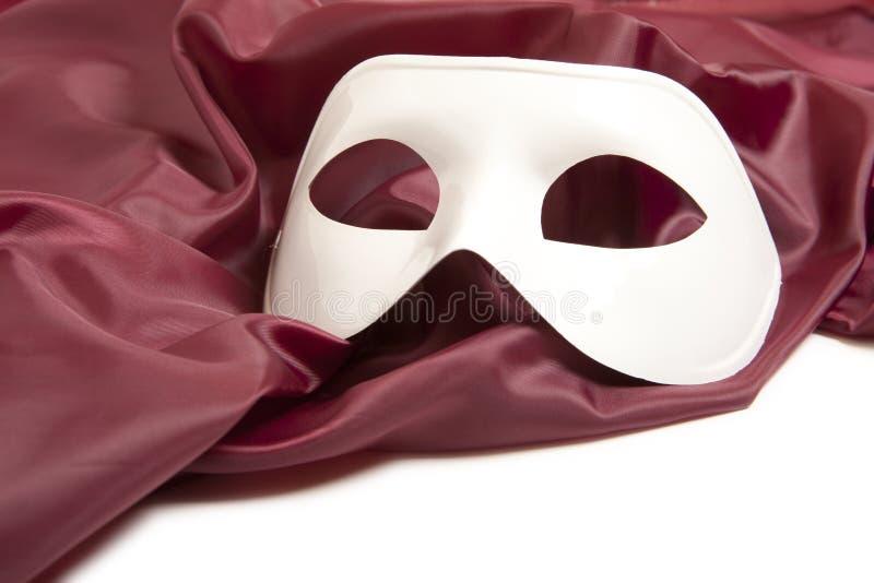 Máscara de teatro blanca imagen de archivo