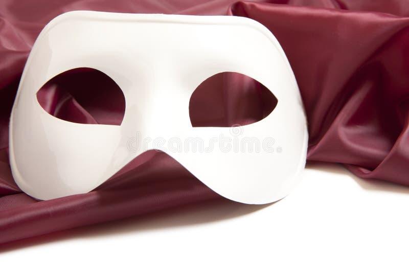 Máscara de teatro blanca fotografía de archivo