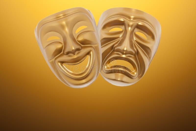 Máscara de teatro fotos de archivo