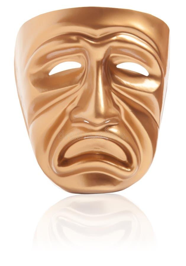 Máscara de teatro de la tragedia imágenes de archivo libres de regalías