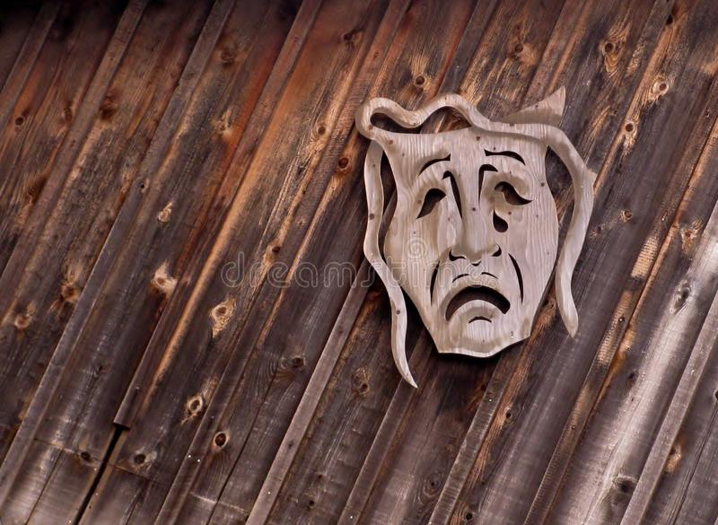 Máscara de teatro de la tragedia imagen de archivo