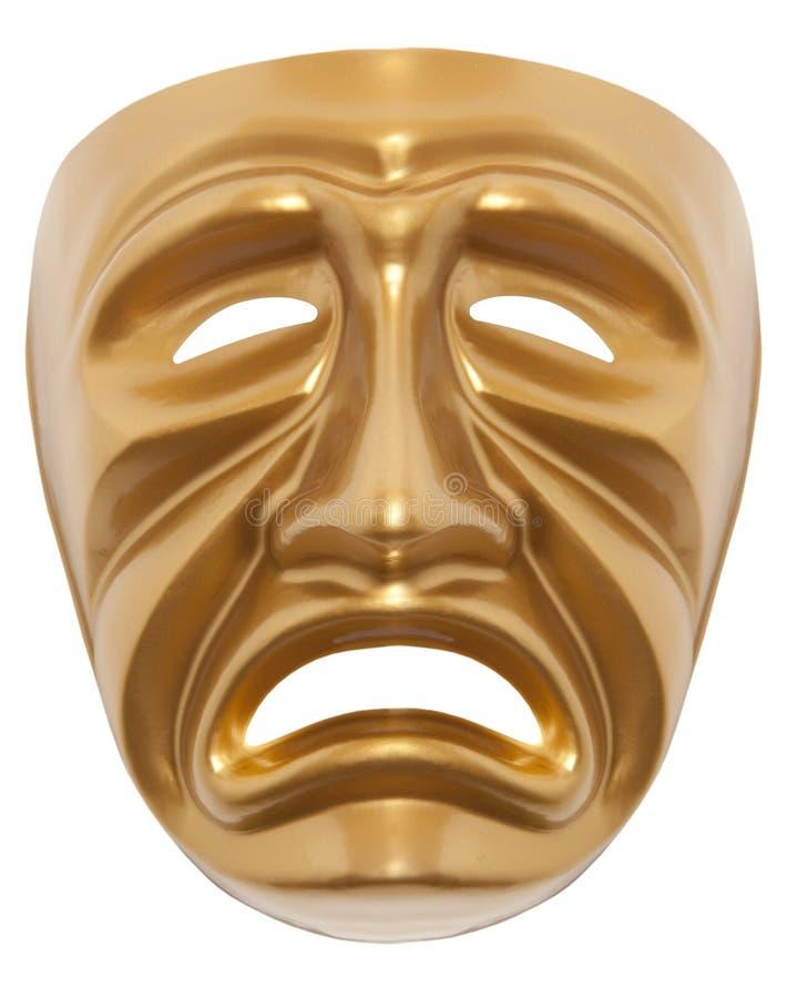 Máscara de teatro de la tragedia aislada imágenes de archivo libres de regalías