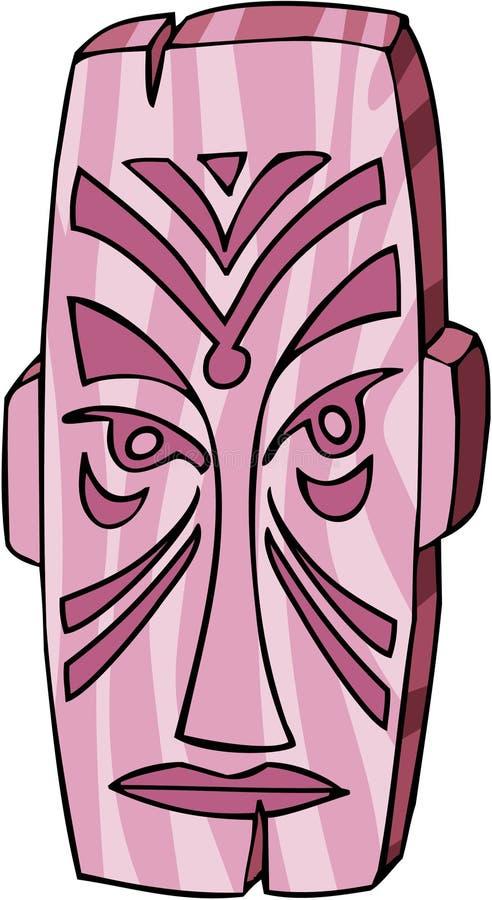 M?scara de Tiki ilustración del vector