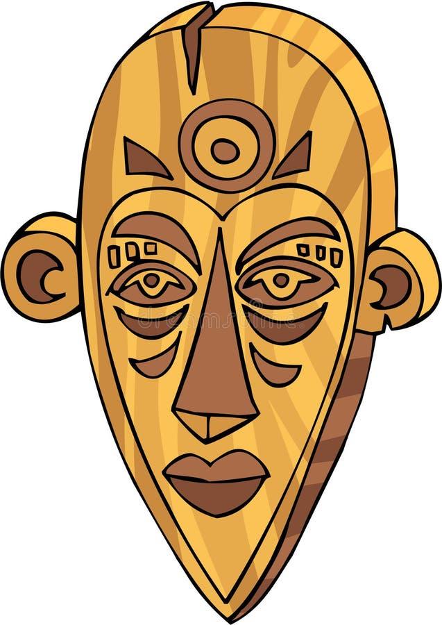 M?scara de Tiki stock de ilustración