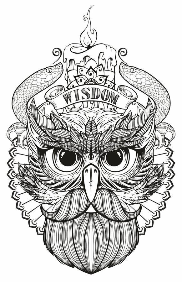 Máscara de un pájaro ilustración del vector
