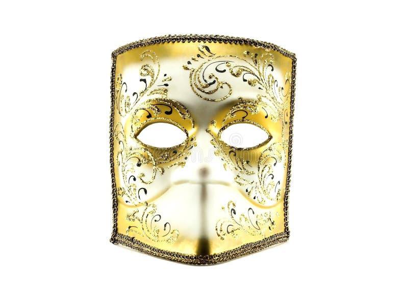 Máscara de Venecia en blanco imágenes de archivo libres de regalías