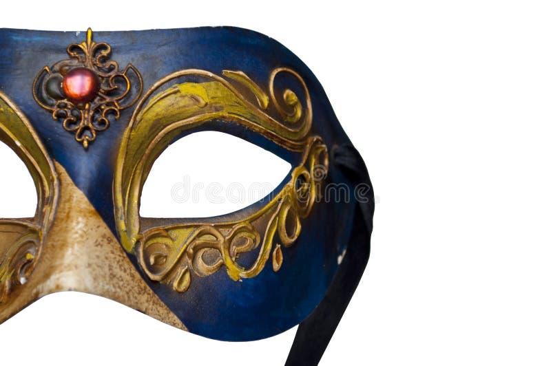 A máscara de Veneza isolou-se no branco foto de stock royalty free