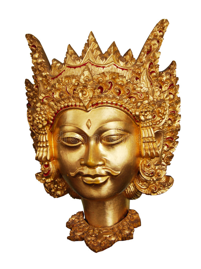 Máscara de Wayang imagenes de archivo