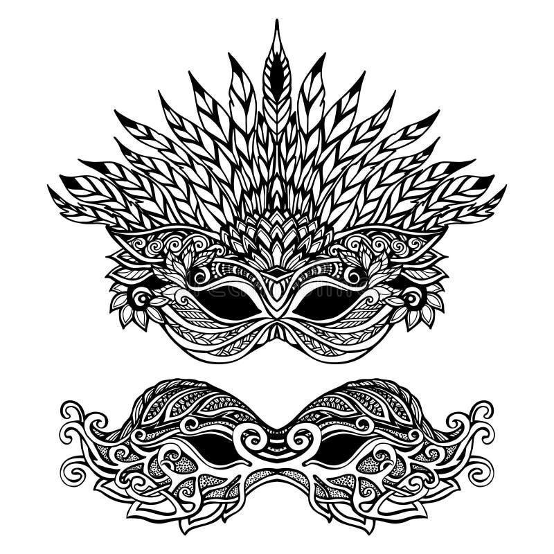 Máscara decorativa del carnaval libre illustration