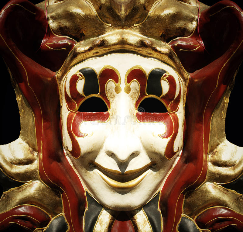 Máscara del bufón fotos de archivo libres de regalías