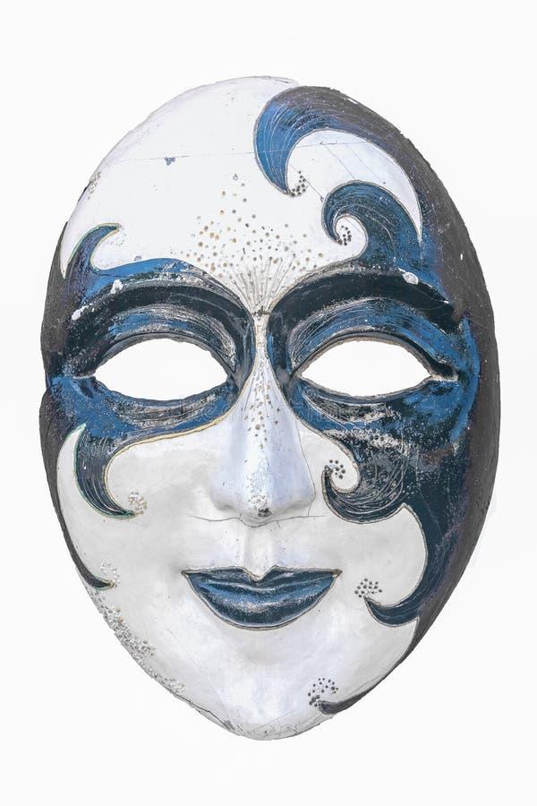 Máscara del carnaval aislada con el fondo blanco imágenes de archivo libres de regalías