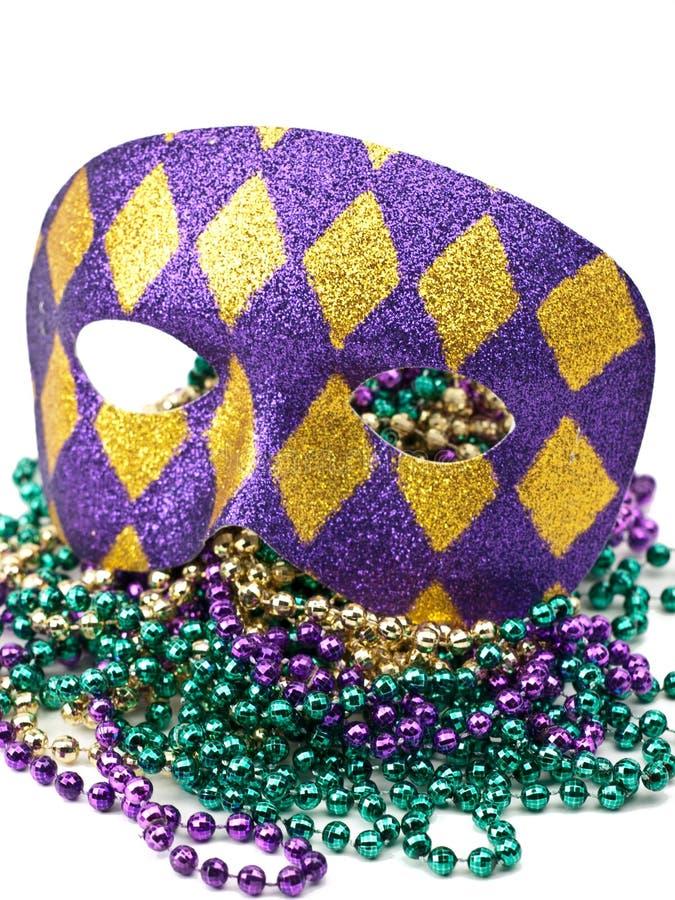 Máscara del carnaval con los granos fotos de archivo libres de regalías