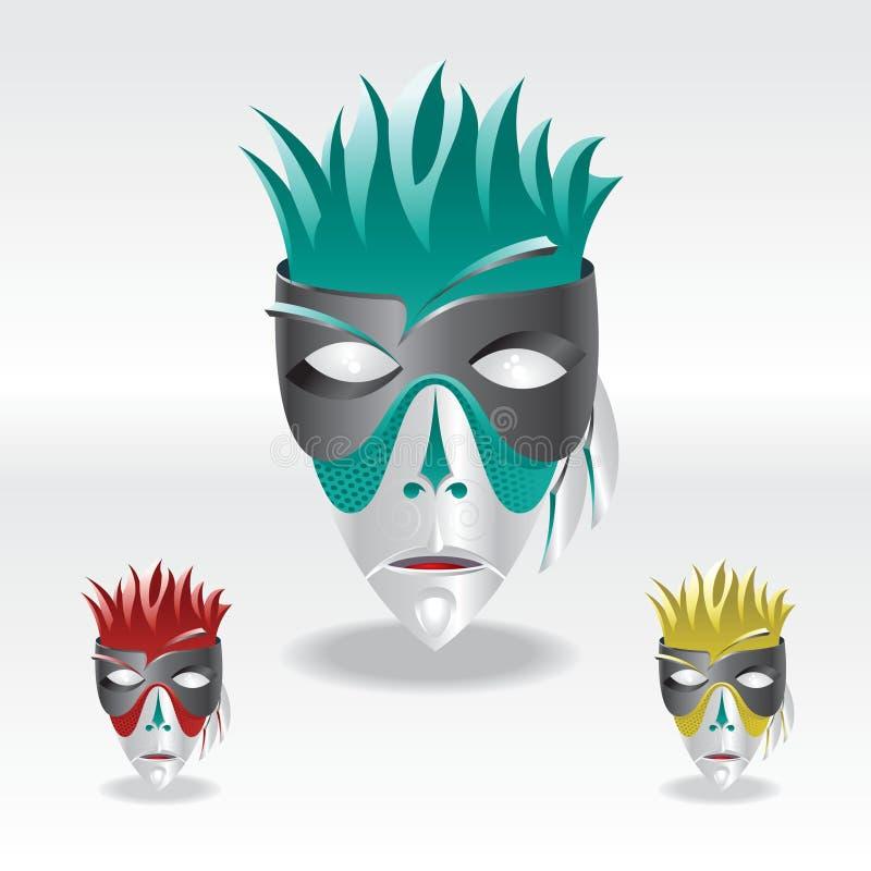 Máscara del carnaval del color stock de ilustración