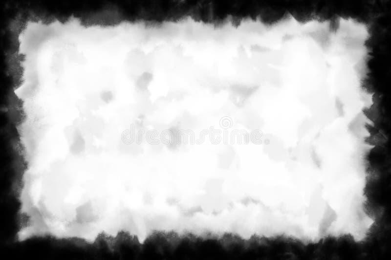 Máscara del color de agua áspera stock de ilustración