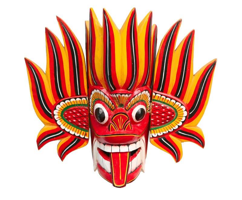 Máscara del diablo del fuego ilustración del vector