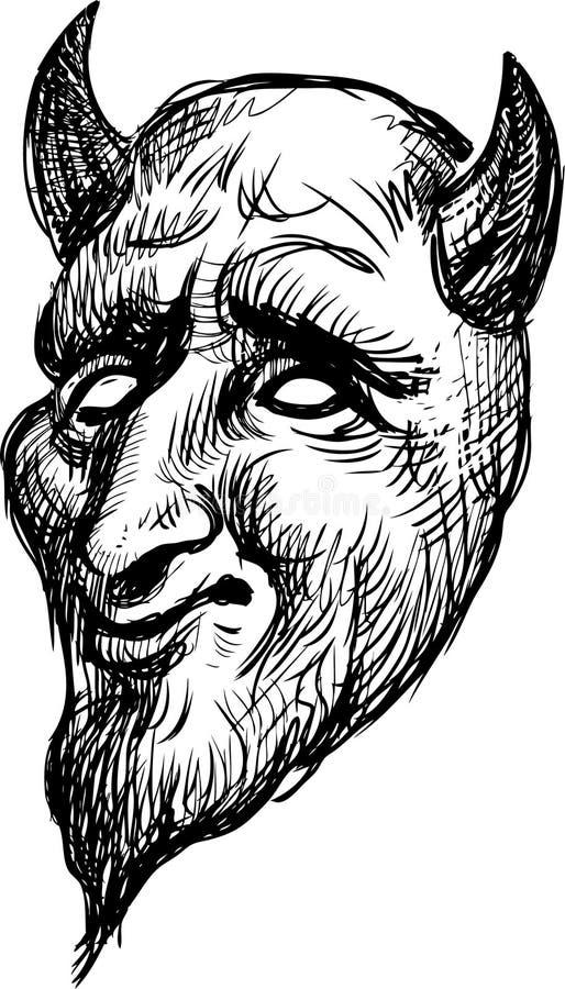 Máscara del drama ilustración del vector