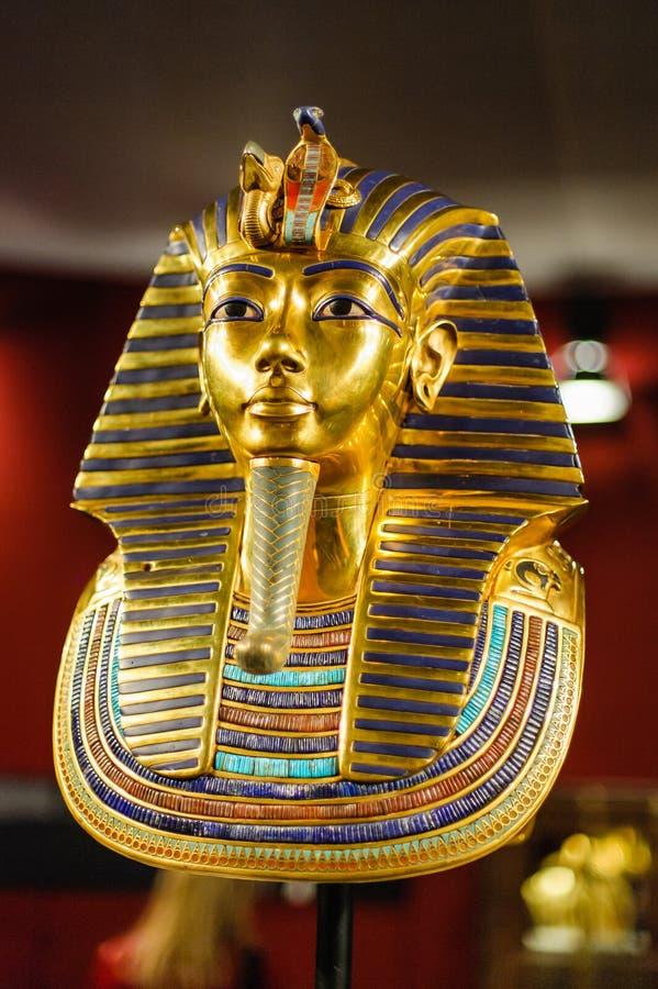Máscara del entierro del faraón egipcio Tutankhamun foto de archivo