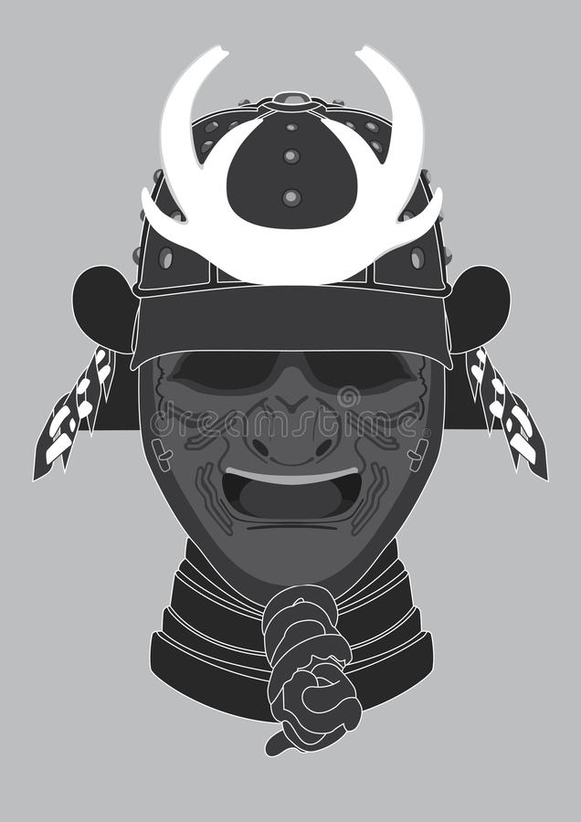Máscara del guerrero del samurai libre illustration