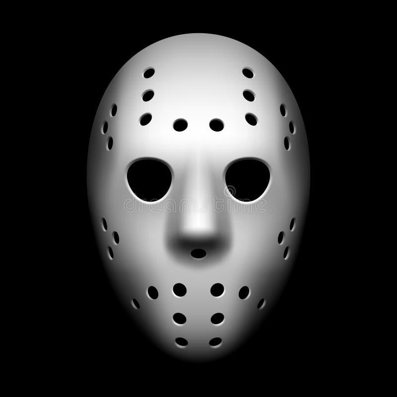 Máscara del hockey stock de ilustración