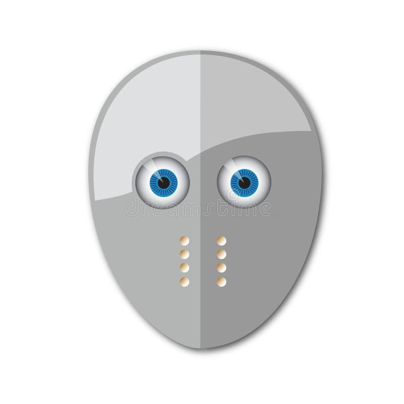 máscara del hockey ilustración del vector