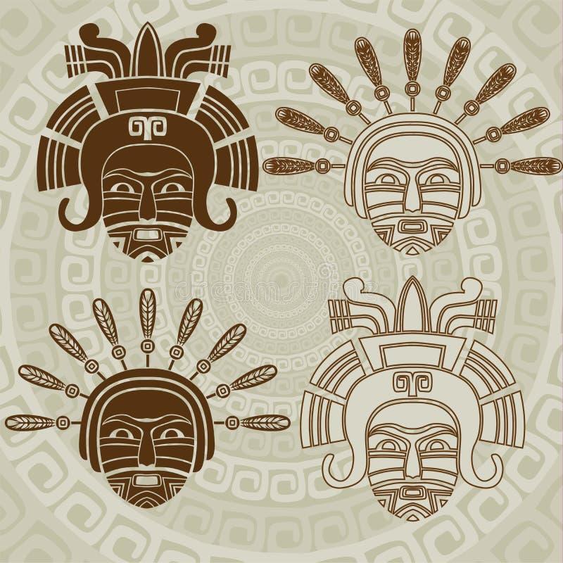 Máscara del nativo americano stock de ilustración