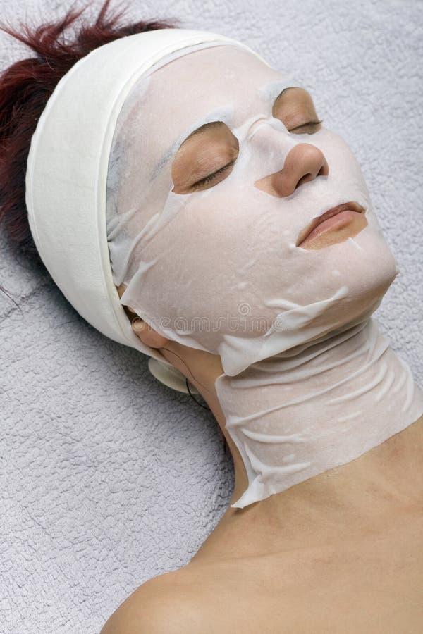 máscara del Placenta-colágeno foto de archivo libre de regalías