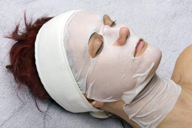 máscara del Placenta-colágeno imagen de archivo libre de regalías