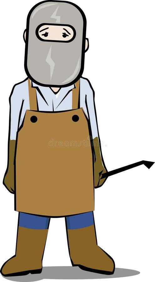 Máscara del soldador stock de ilustración